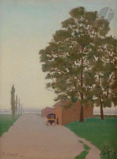 Charles LACOSTE (1870-1959) Le Départ de...