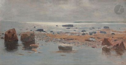Wartan MAHOKIAN (1869-1937) Bord de mer Huile...