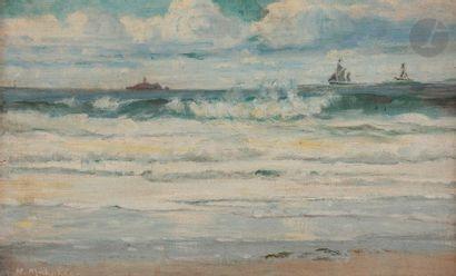 Wartan MAHOKIAN (1869-1937) Bord de mer à...