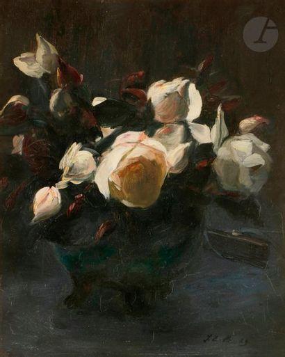 Jacques-émile BLANCHE (1861-1942) Vase de...