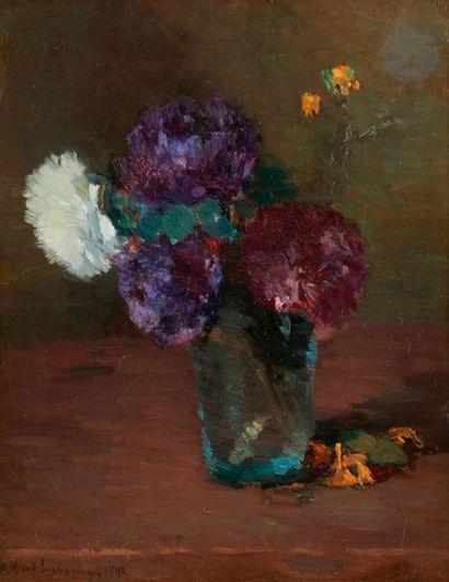 Albert LEBOURG (1849-1928) Vase de fleurs,...