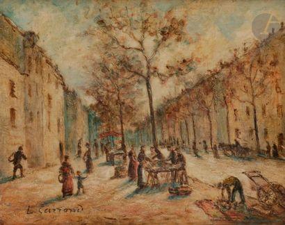 *Louis Hilaire CARRAND (1821-1899) Le Marché,...