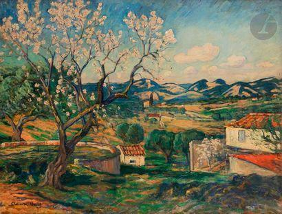 Georges CHENARD-HUCHé (1864-1937) Amandiers...