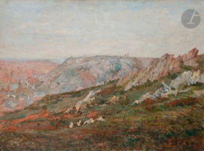 Abel LAUVRAY (1870-1950) Paysage de Bretagne...