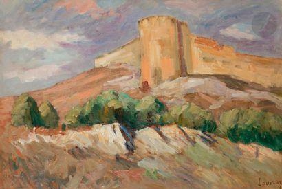 Abel LAUVRAY (1870-1950) Tour, fort Saint-André...