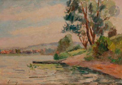 Abel LAUVRAY (1870-1950) Le Village de Vétheuil...