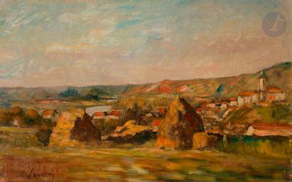 Abel LAUVRAY (1870-1950) Meules à Vétheuil...