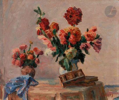 Abel LAUVRAY (1870-1950) Fleurs Huile sur...