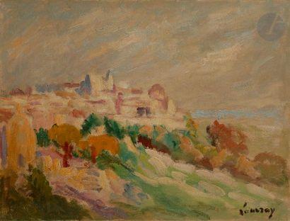 Abel LAUVRAY (1870-1950) Village provençal...