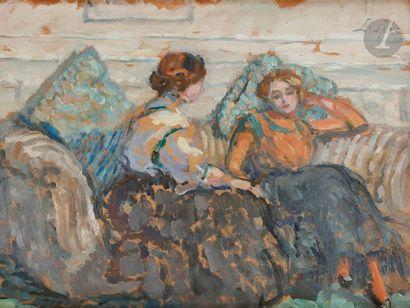 Louis SÜE (1875-1968) Elégantes au salon...