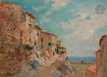 Edmond Marie PETITJEAN (1844-1925) Bord de...
