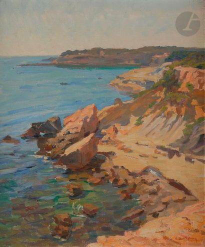 Émilien Victor BARTHÉLEMY (1885-?) Côte rocheuse...