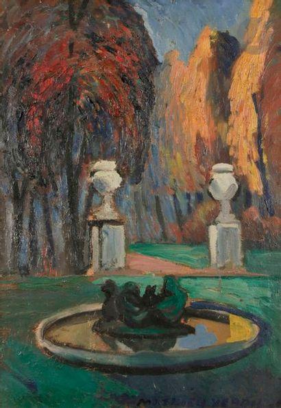 Louis-Mathieu VERDILHAN (1875-1928) Bassin...