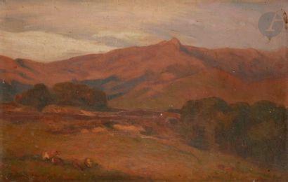 François CORBELLINI (1863-1943) Corse, paysage...