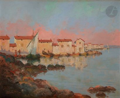 Léon ZEYTLINE (1885-1962) Bastia, 1927 Huile...