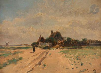 Julien Gustave GAGLIARDINI (1846-1927) Paysage...