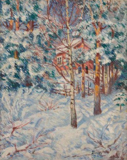 *Edvards DIRIKS (1855-1930) Soleil d'hiver,...