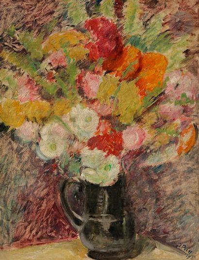 Jean PUY (1876-1960) Vase de fleurs, 1919...