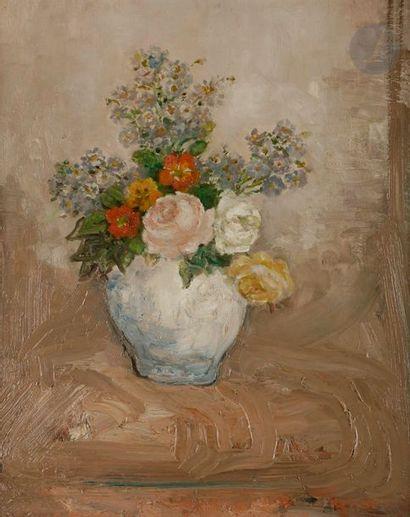 Pierre LAPRADE (1875-1931) Vase de fleurs...