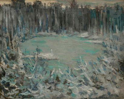 Alexandre ALTMANN (1878-1932) Hiver sur le...