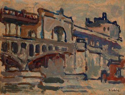 Frédéric FIEBIG (1885-1953) Paris Huile sur...