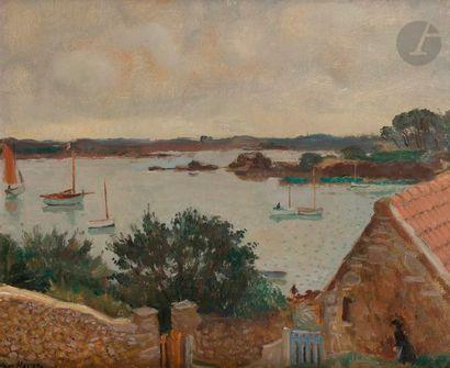 Willem VAN HASSELT (1882-1963) Bréhat, temps...