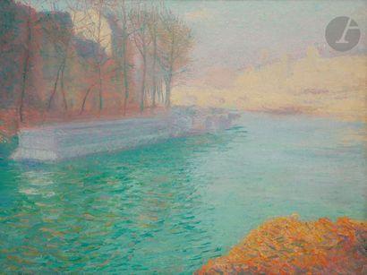 André BARBIER (1883-1970) Paris, lumière...