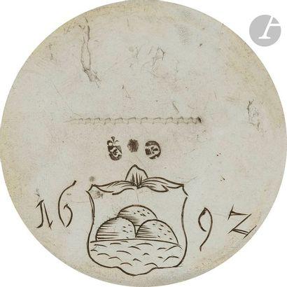 STRASBOURG 1692 Gobelet cylindrique de magistrat en vermeil (usures) mouluré de...