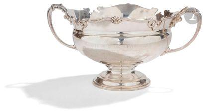 BIRMINGHAM 1950 Coupe en argent à deux anses...
