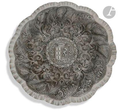 PORTO 1886 - 1938 Grand plat circulaire de...