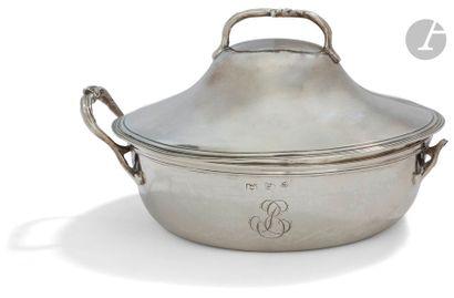 CHÂLON-SUR-SAÔNE 1789 Bouillon couvert en...