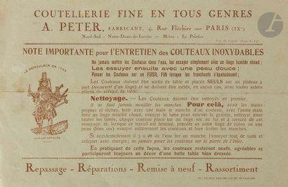 E. PETER Ménagère en argent circa 1940. Dans son coffre en bois complet de sa clé...