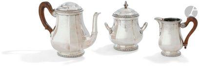 PUIFORCAT Service thé café de trois pièces...