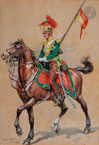 ALBERT-LEROUX (Pierre) Lancier du régiment...