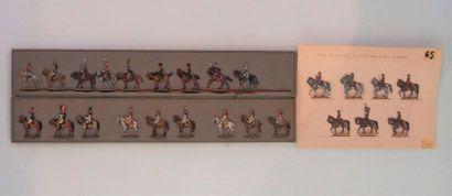 Figurines, type plat d'étain. Peinture fine....
