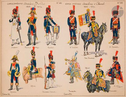 ALBERT-LEROUX Garde impériale et Hussards....