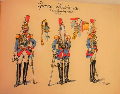 ALBERT-LEROUX Garde Impériale. Second Empire....