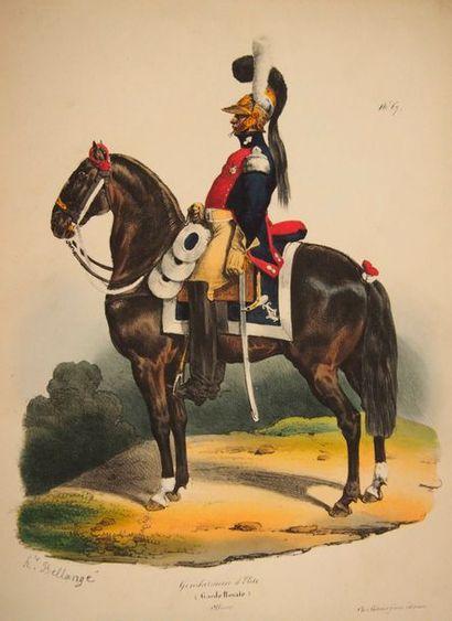 BELLANGE (H.) Uniformes de l'armée française...