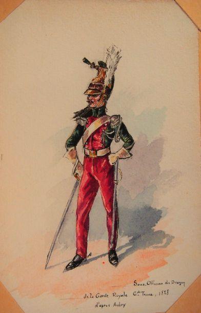 BOISSELIER (H.) L'armée française. 1815-1830,...