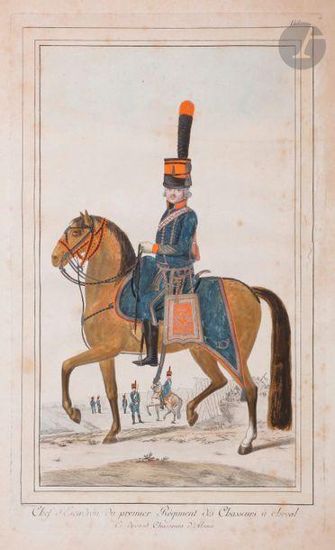 HOFFMANN (Nicolas) Costumes militaires de France. Chef d'escadron du premier régiment...