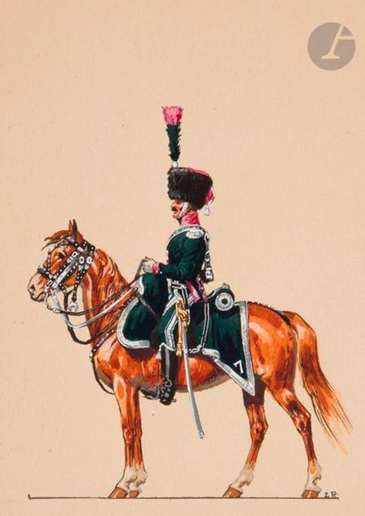 GASTALDI 7e chasseurs à cheval. Réunion de...
