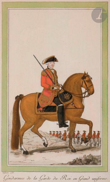 HOFFMANN (Nicolas) Costumes militaires de France. - Timbalier des Gendarmes de la...