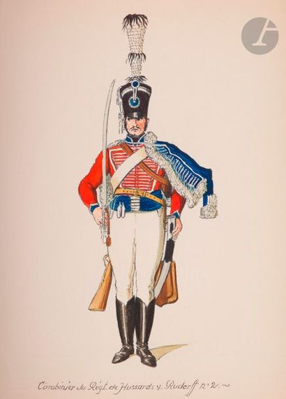 HENSCHEL Costumes de l'armée prussienne en...