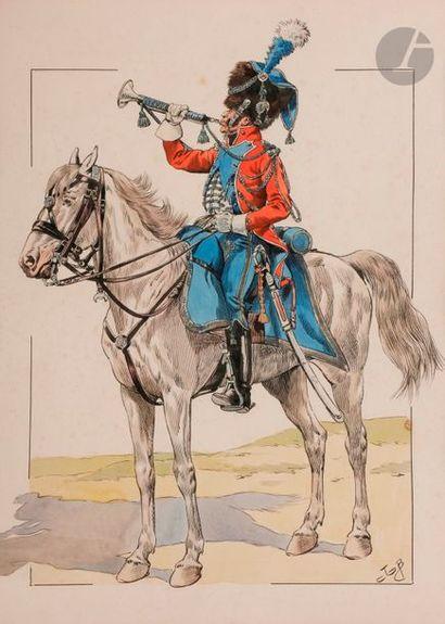 JOB (Onfroy de Breville, dit) Garde d'honneur...