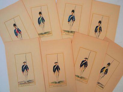 LATTRE (Chez) Les uniformes des régiments...