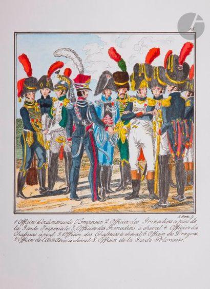 MANUSCRIT DE BERKA L'armée française représentée...