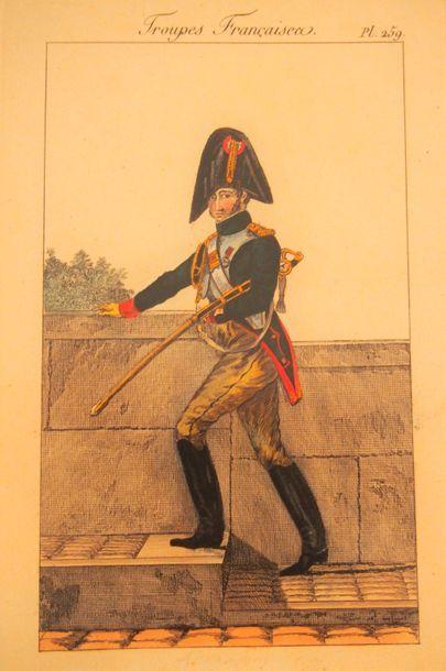 MARTINET- BASSET- GENTY Troupes françaises....