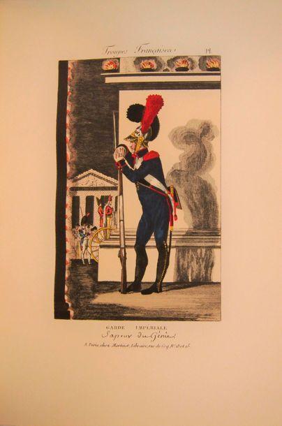 MARTINET Galerie des Enfants de Mars. Paris, s.d., in-4, demi-reliure basane rouge....