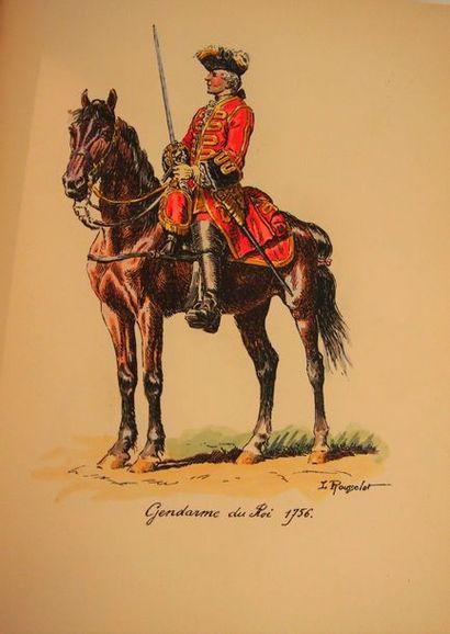 MONTERGON (Cdt. de). La cavalerie de la Maison du Roy au XVIIIe siècle. Paris, Edit....