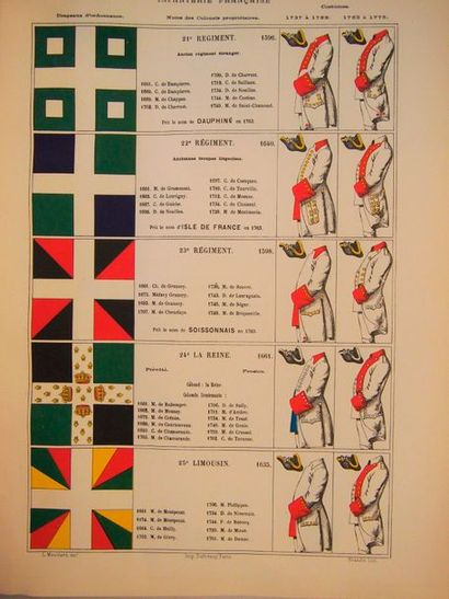 MOUILLARD (Lucien) Armée française. Les régiments sous Louis XV. Constitution de...